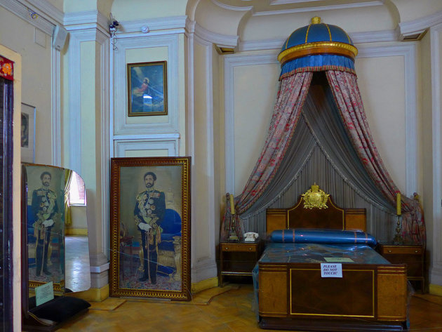 De slaapkamer van Haile Selassie