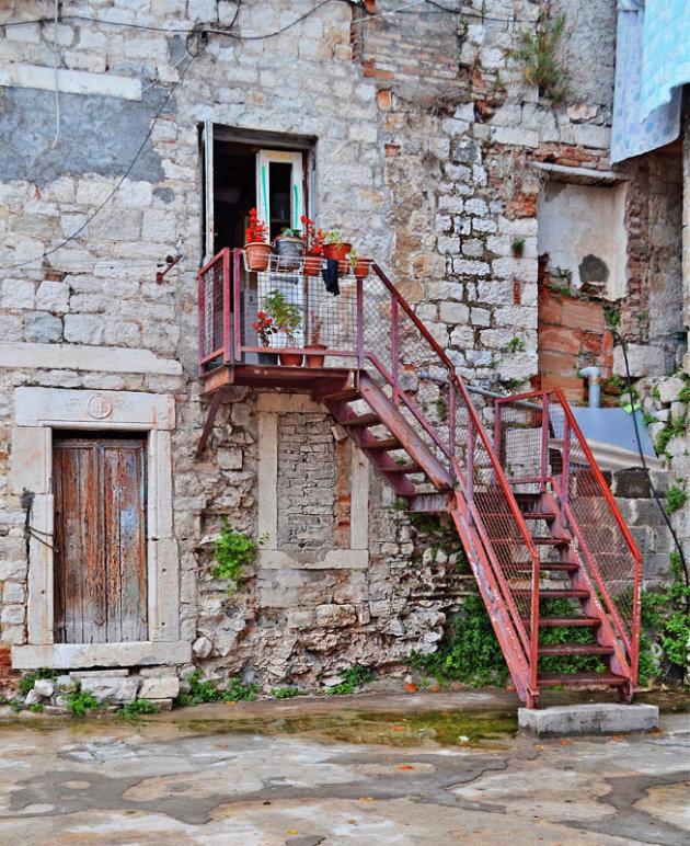 In het oude stadscentrum van Split