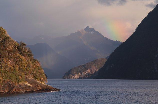 Rainbow over Doubtful Sound