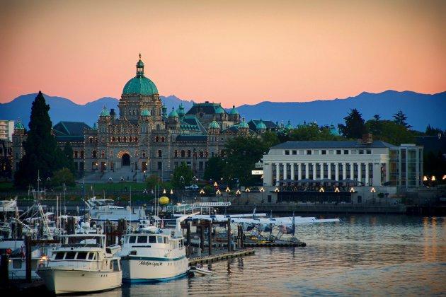 Zonsondergang - Parlementsgebouw - Vancouver Island