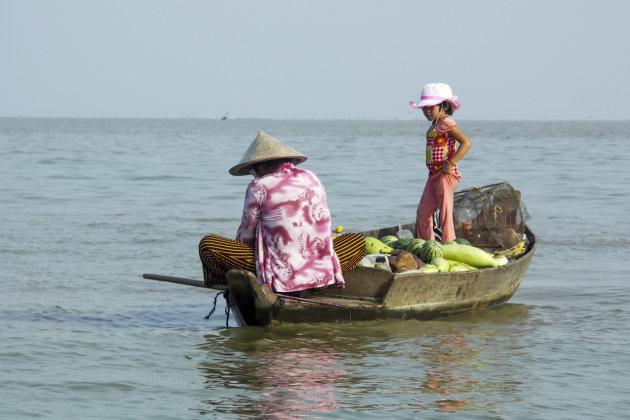 Fruitverkoop op Tonle sap