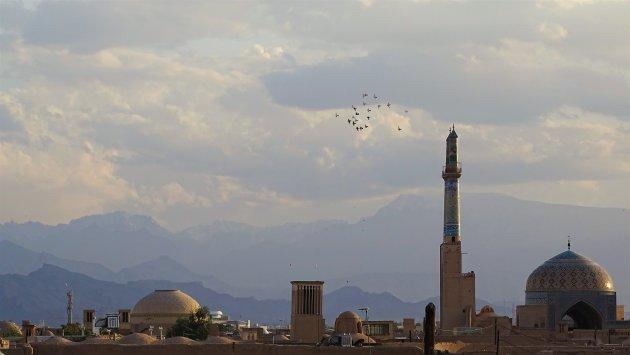 De skyline van Yazd
