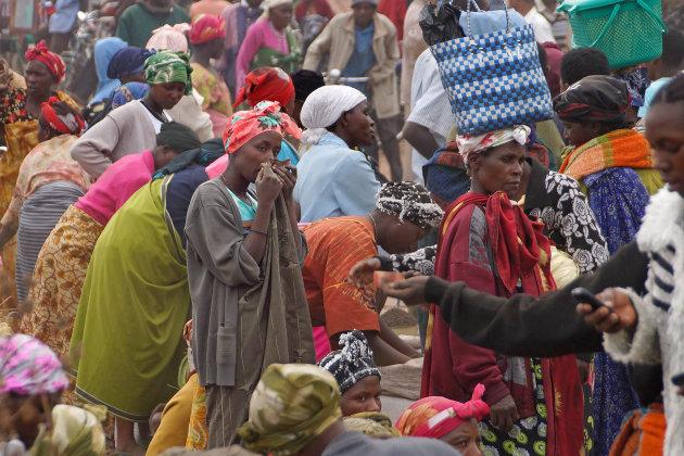 De lapjesman in Kisoro