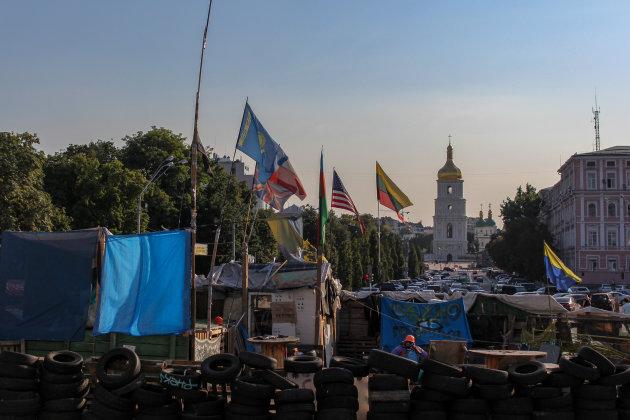 De barricades van Kiev
