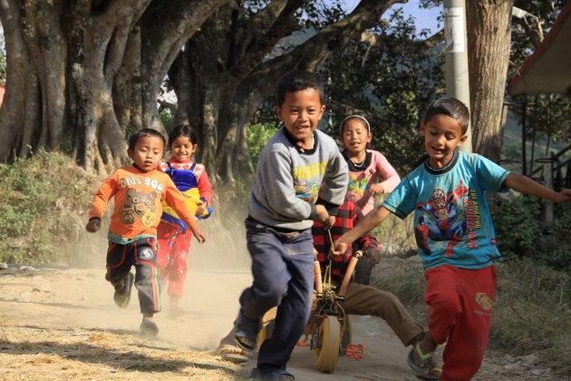 Kinderen in Bandipur