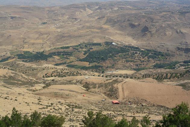 Tussen Jerash en Amman