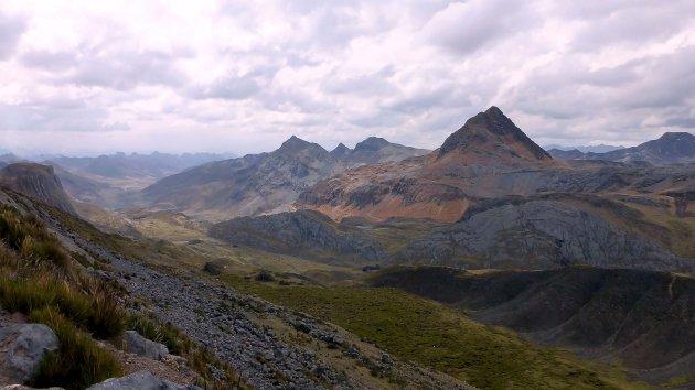 uitzicht op 5000 m