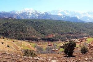 Ourika vallei in de Hoge Atlas