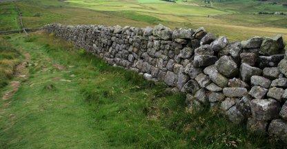 Hadrian's wall nabij Cawfield