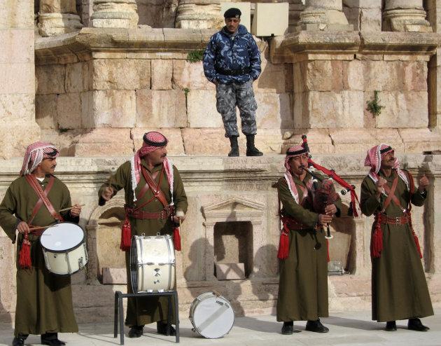 Doedelzakken in Jerash