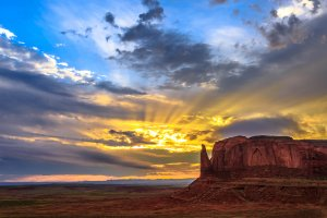 Zonsopgang in Monument Valley