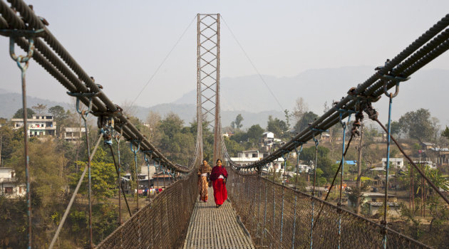 Hangbrug naar Devghat