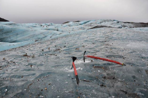 Op het blauwe ijs van de Vatnajokull