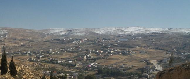 Sneeuw in Jordanie