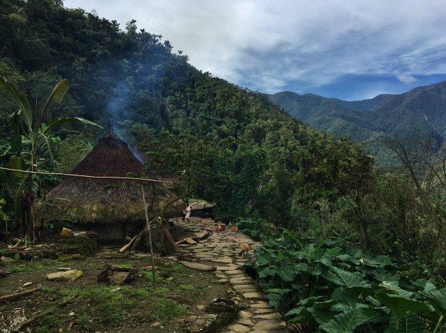 Rookhuisjes van de Kogi indianen