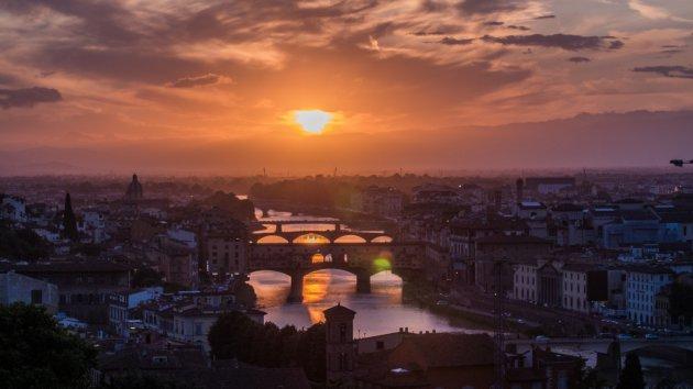 Purple Skies boven Florence!