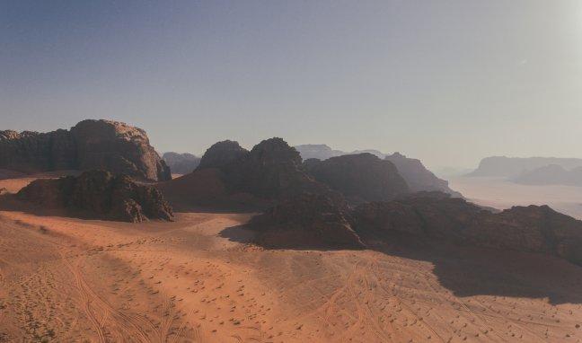 Wadi Rum vanuit de lucht