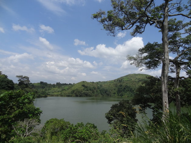 Magnifiek merengebied in West-Uganda
