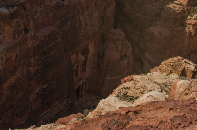 Petra buiten de gebaande paden