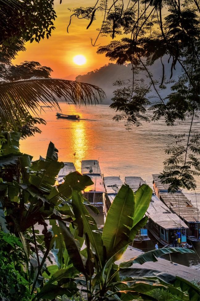 Relaxen aan de Mekong