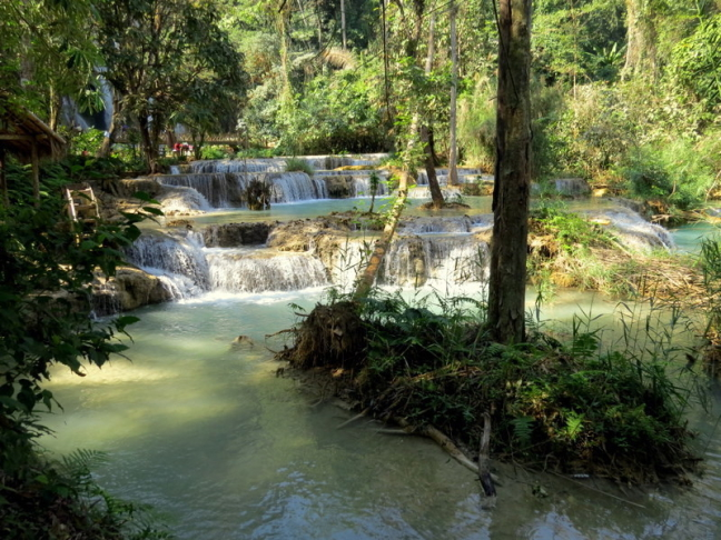 Kuang Si waterval.