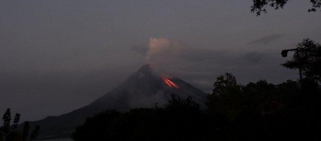 Uitzicht op de vulkaan