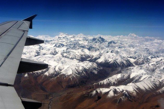 de Himalaya vanuit een luie stoel