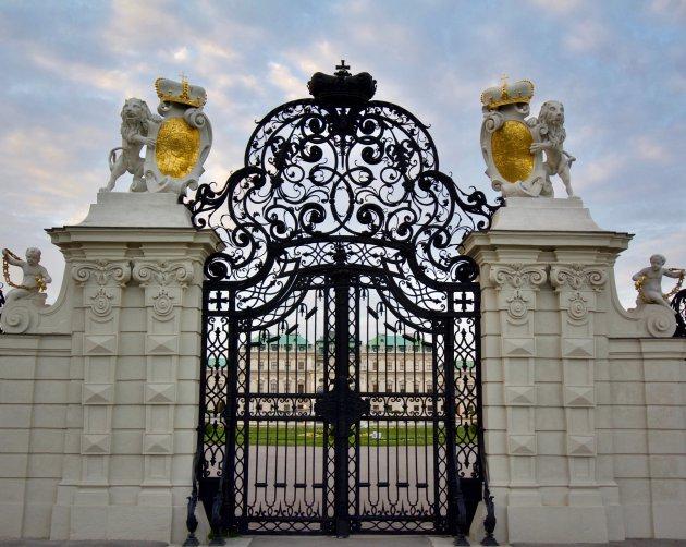 Poort en doorkijk  Schloss Belvedere