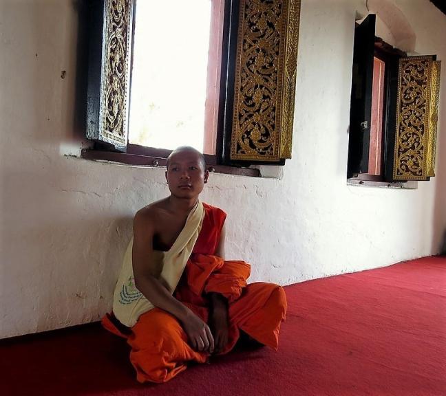 Monnik op de Phu Si .