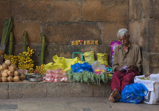The streets of Thanjavur