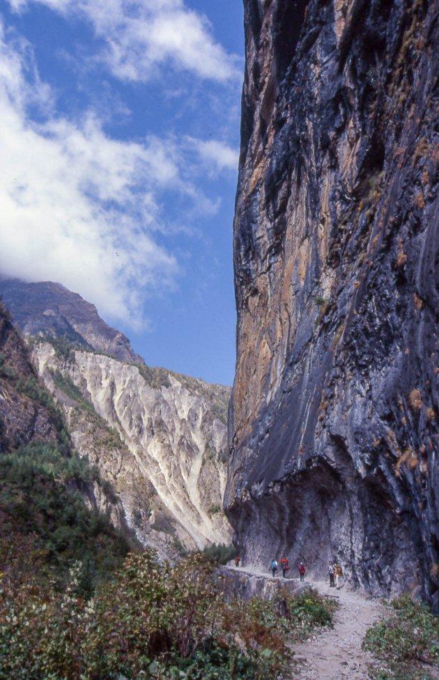 Nietig in de bergen