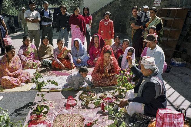 Bruilofts ceremonie -Nepal