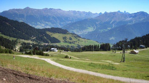Zomers skigebied