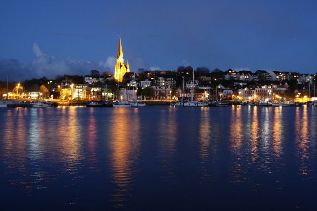 Flensburg by night