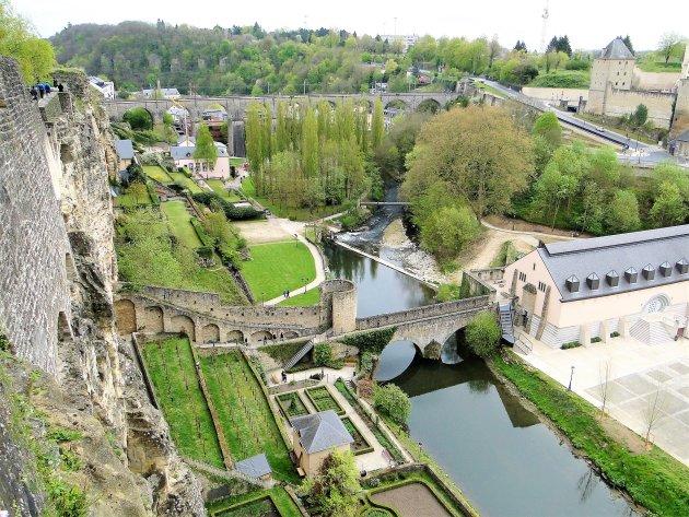 Het dal in Luxemburg stad.