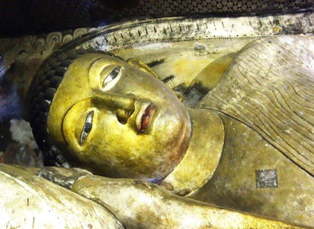 Liggende Boeddha in Dambulla