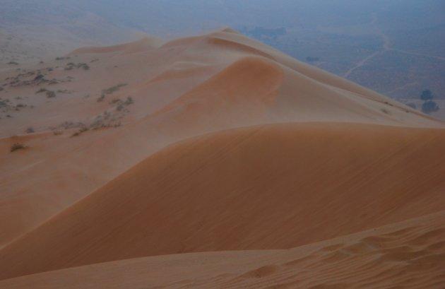 Zandstorm in Wahibi Sands