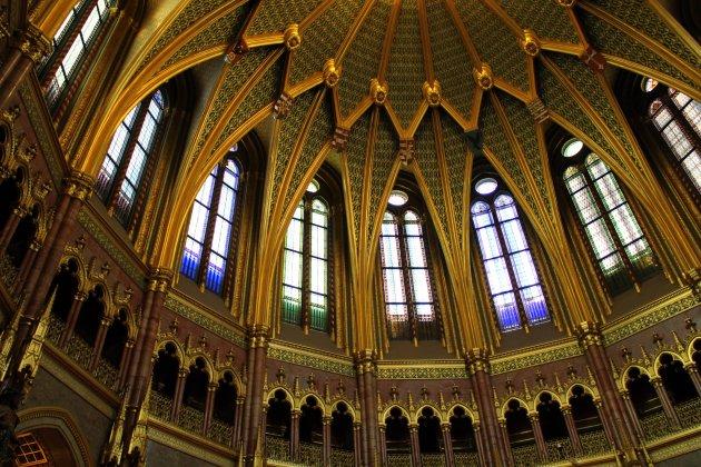 Ronde koepelzaal in het Parlementsgebouw