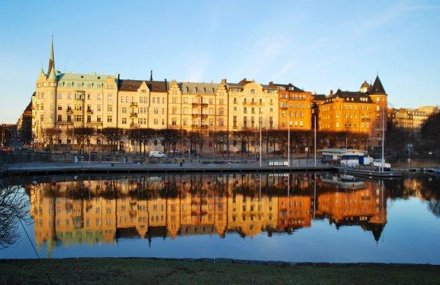 Stockholm, zicht op Strandvägen
