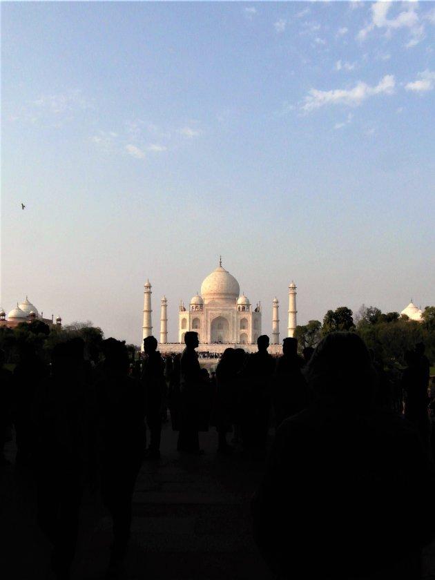 drukte voor de Taj Mahal