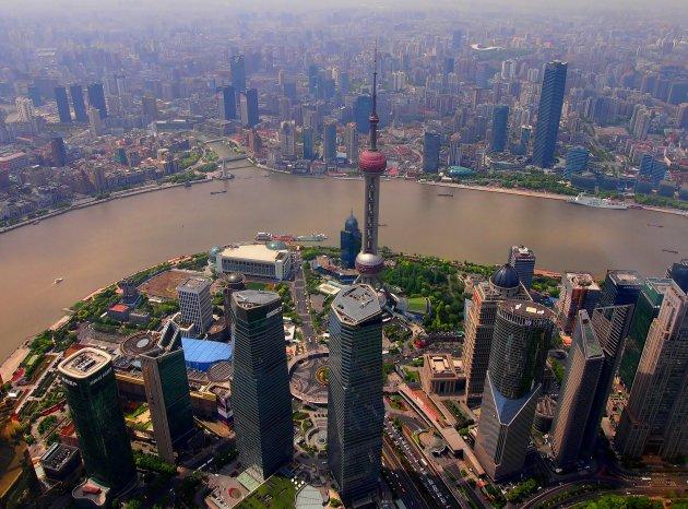 Uitzicht vanaf de Shanghai tower