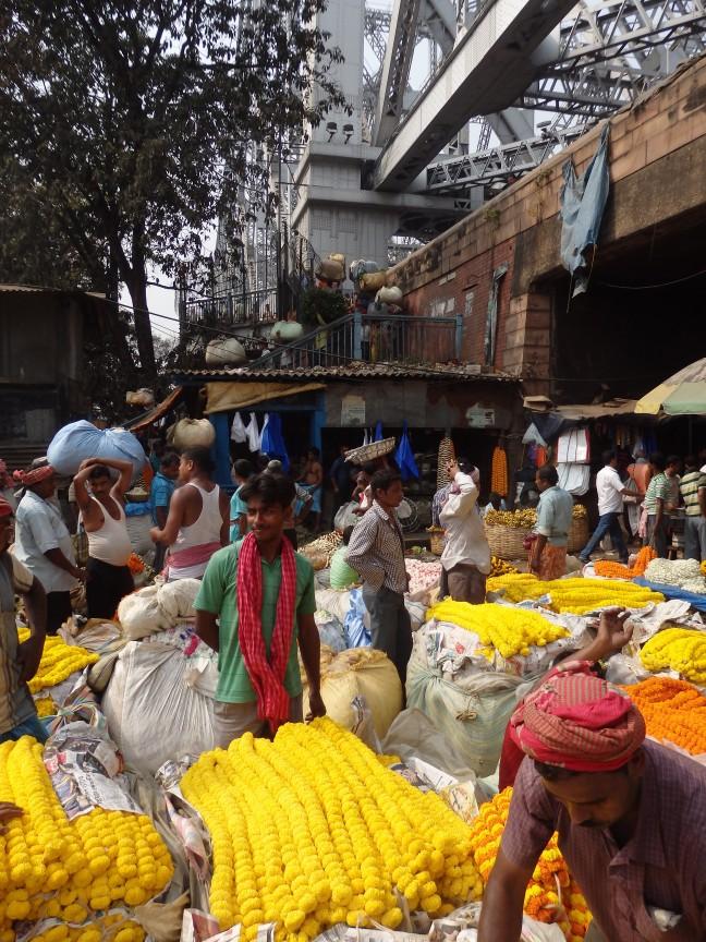 De bloemenmarkt van Kolkata