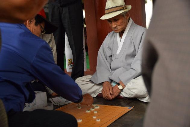 Koreaans schaken in Andong