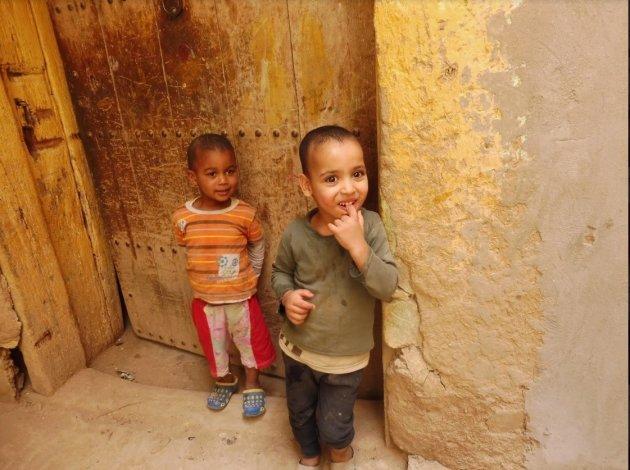 Kinderen in de straten van Zagora