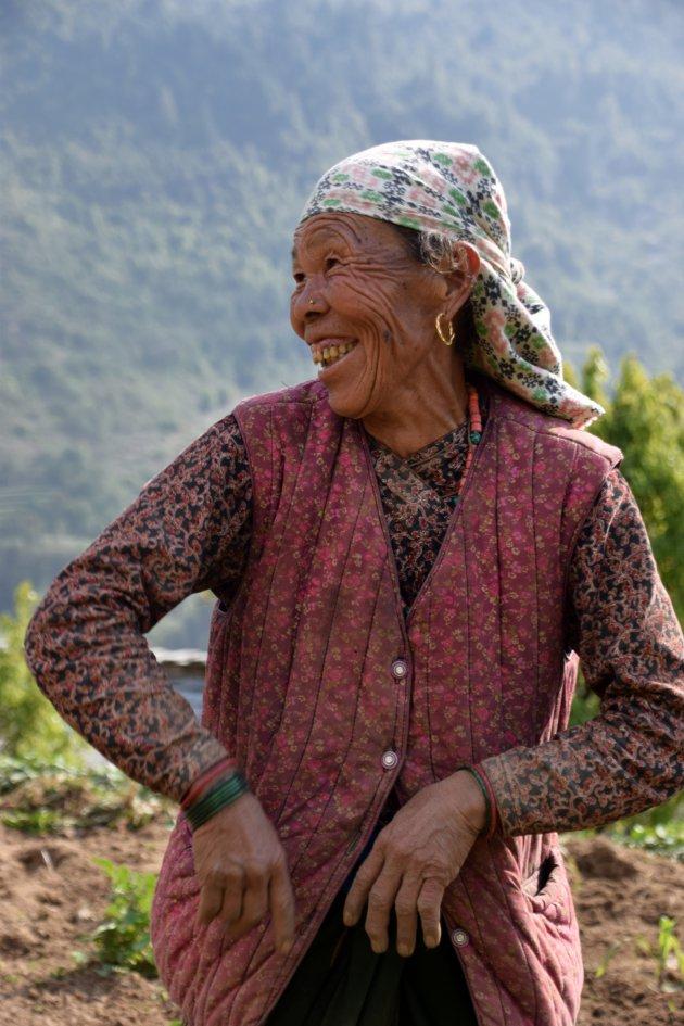 Fantastische ontmoeting met locals in Annapurna gebergte