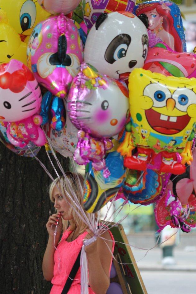 Ballonnen verkoop in Lviv