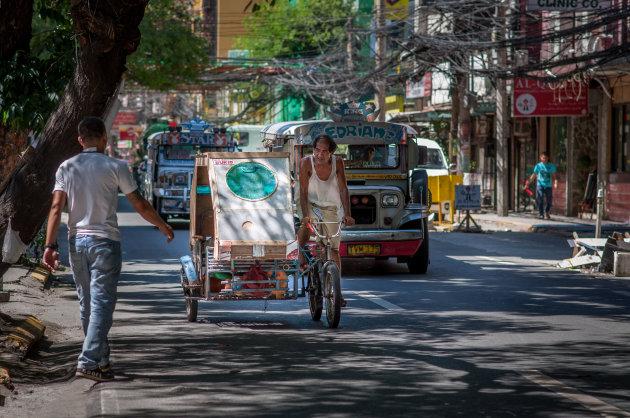 Fiets taxi Manilla