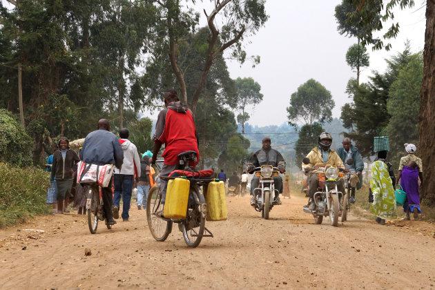 Spitsuur in Kisoro