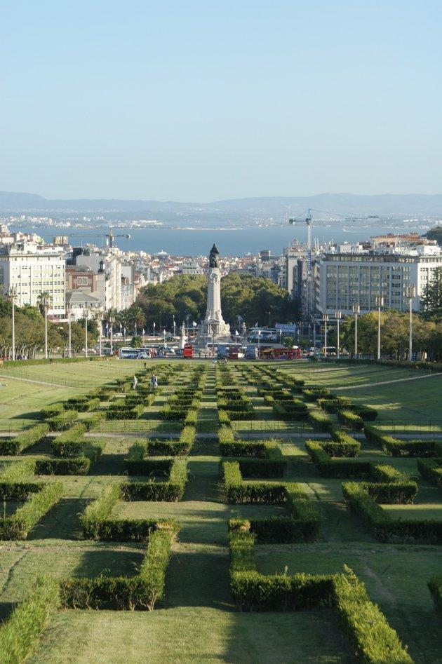Uitzicht op centrum Lissabon