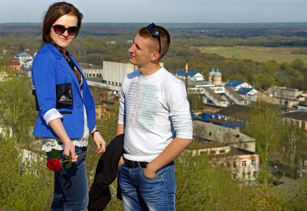 Romantisch moment in Suzdal